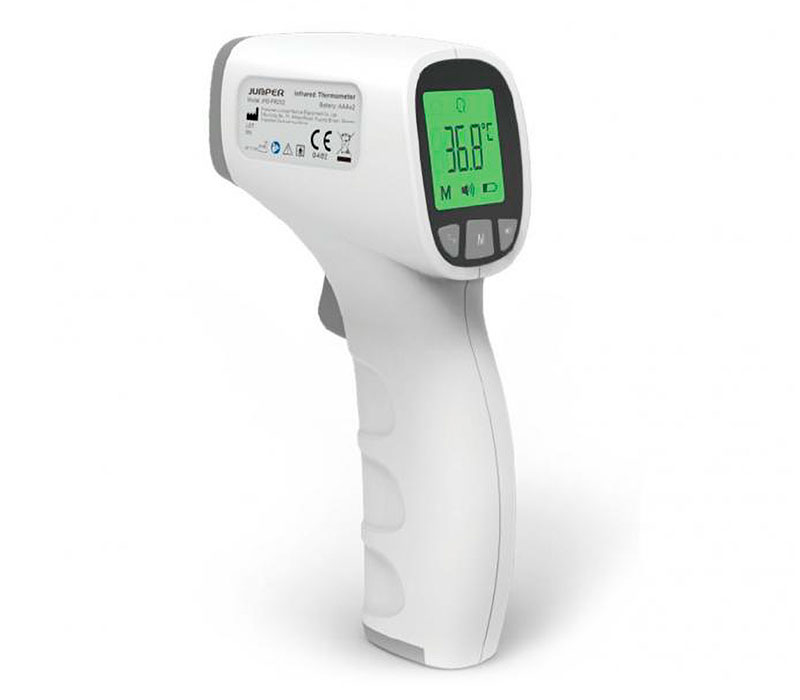 Kontaktloses Fieberthermometer Test
