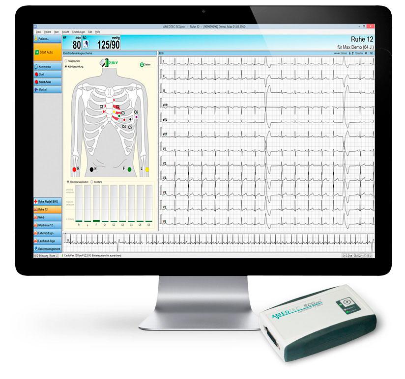 AMEDTEC CardioPart 12 Ruhe-EKG