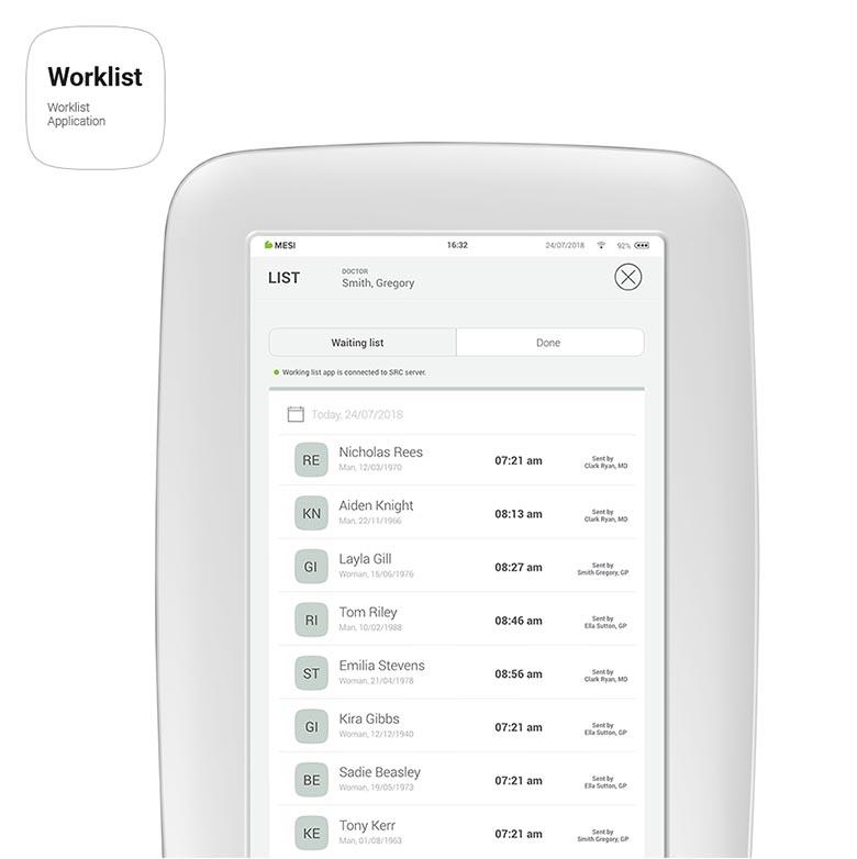 MESI mTABLET - Worklist App